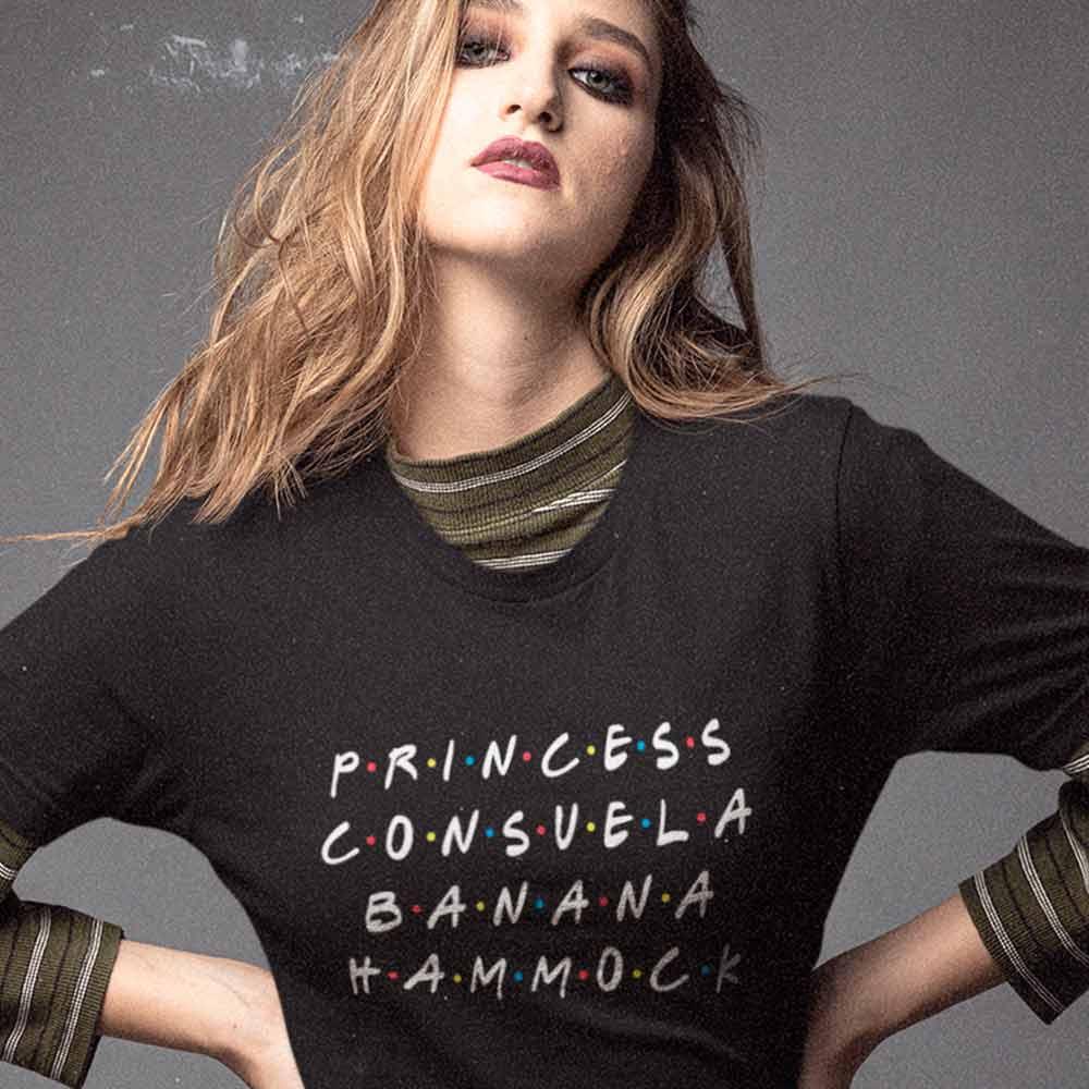 camiseta friends phoebe princess consuela banana hammock