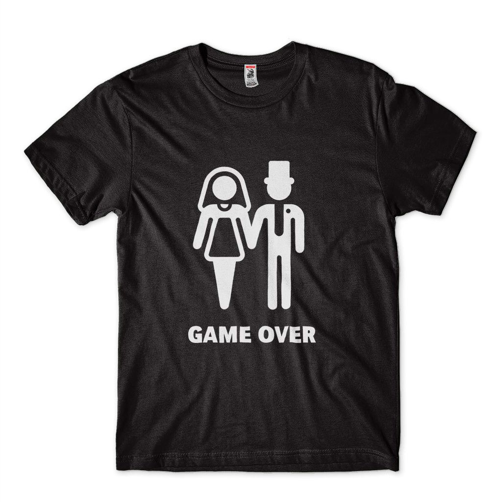 camiseta game over engracada camisa masculina noivo