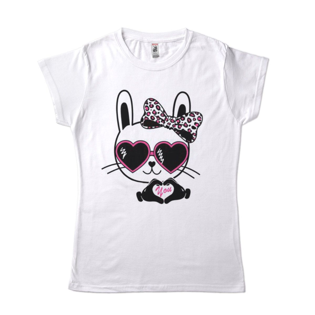 camiseta gato de oculos feminina coracao