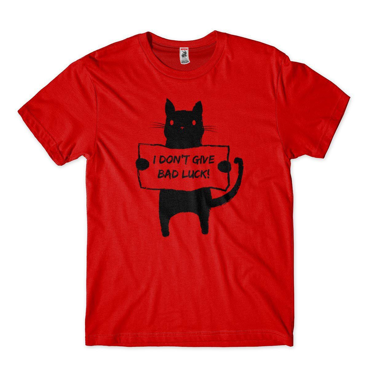 camiseta gato preto engracada sorte azar