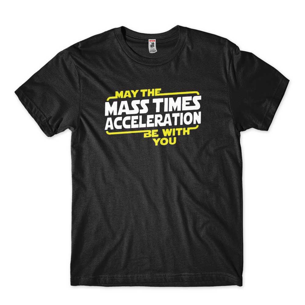 camiseta geek Segunda Lei de Newton engracada