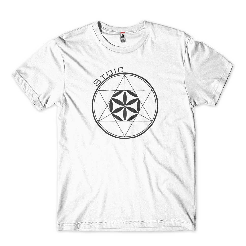 camiseta geometria sagrada vida estoica