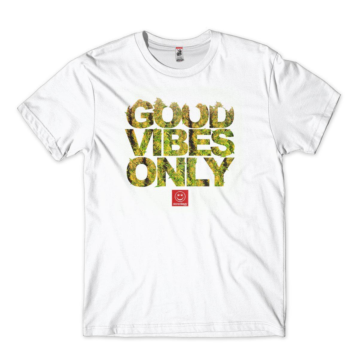 Camiseta Goog Vibes Only Stoner Days Cannabis Masculina