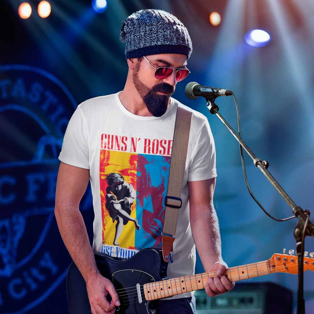 Camiseta Guns and Roses Camisa Banda Rock GnR Blusa