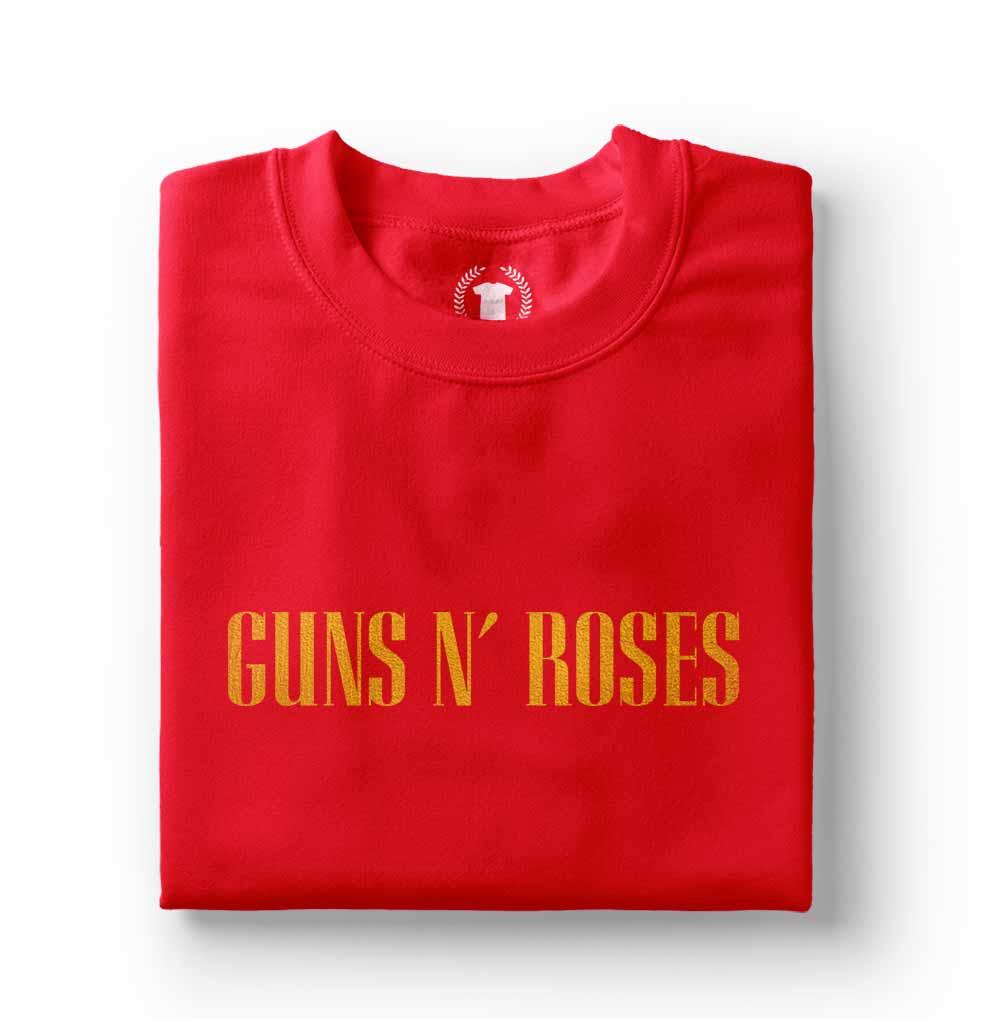 camiseta guns n roses gnr vermelha