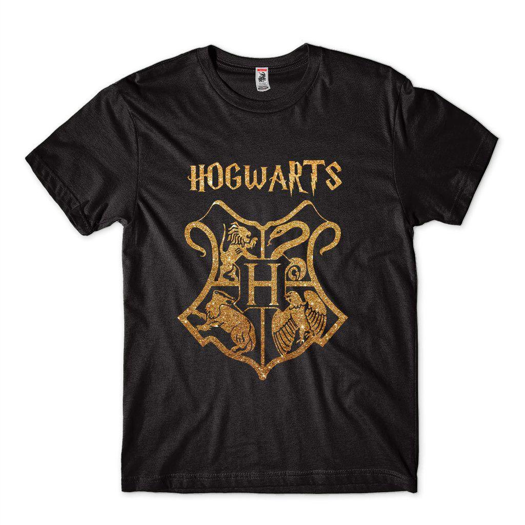 Camiseta Harry Potter Masculina Dourada Prateada