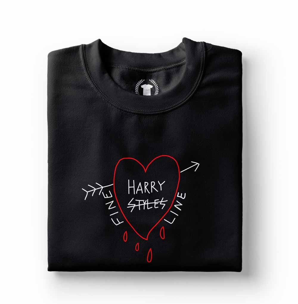 Camiseta Harry Styles Fine Line preta