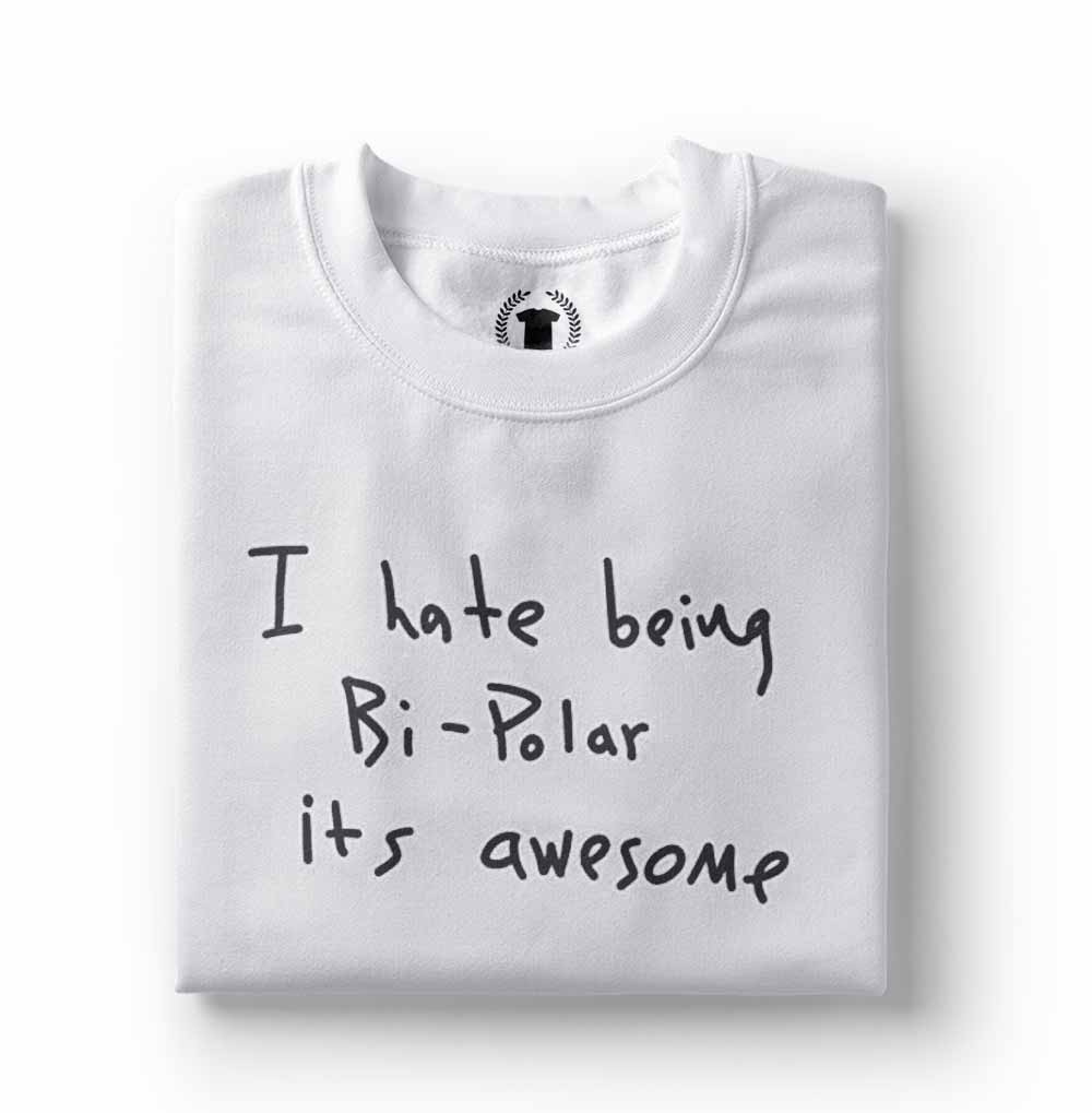 Camiseta I Hate Being Bipolar Kanye West branca