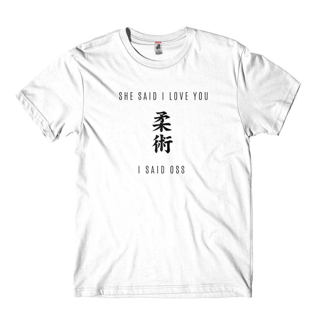 Camiseta I love you oss jiu jitsu personalizada