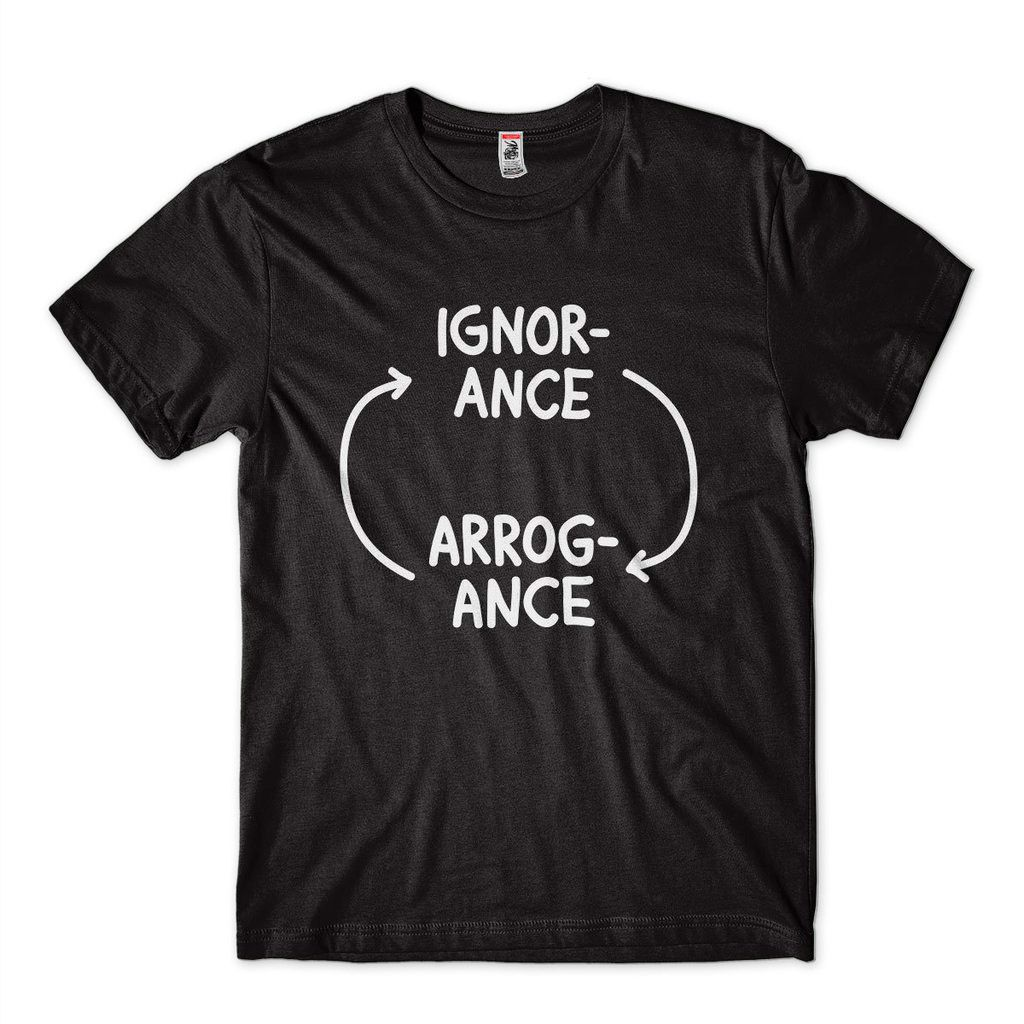 Camiseta Ignorance Sabedoria Filosofia Humor Camisa