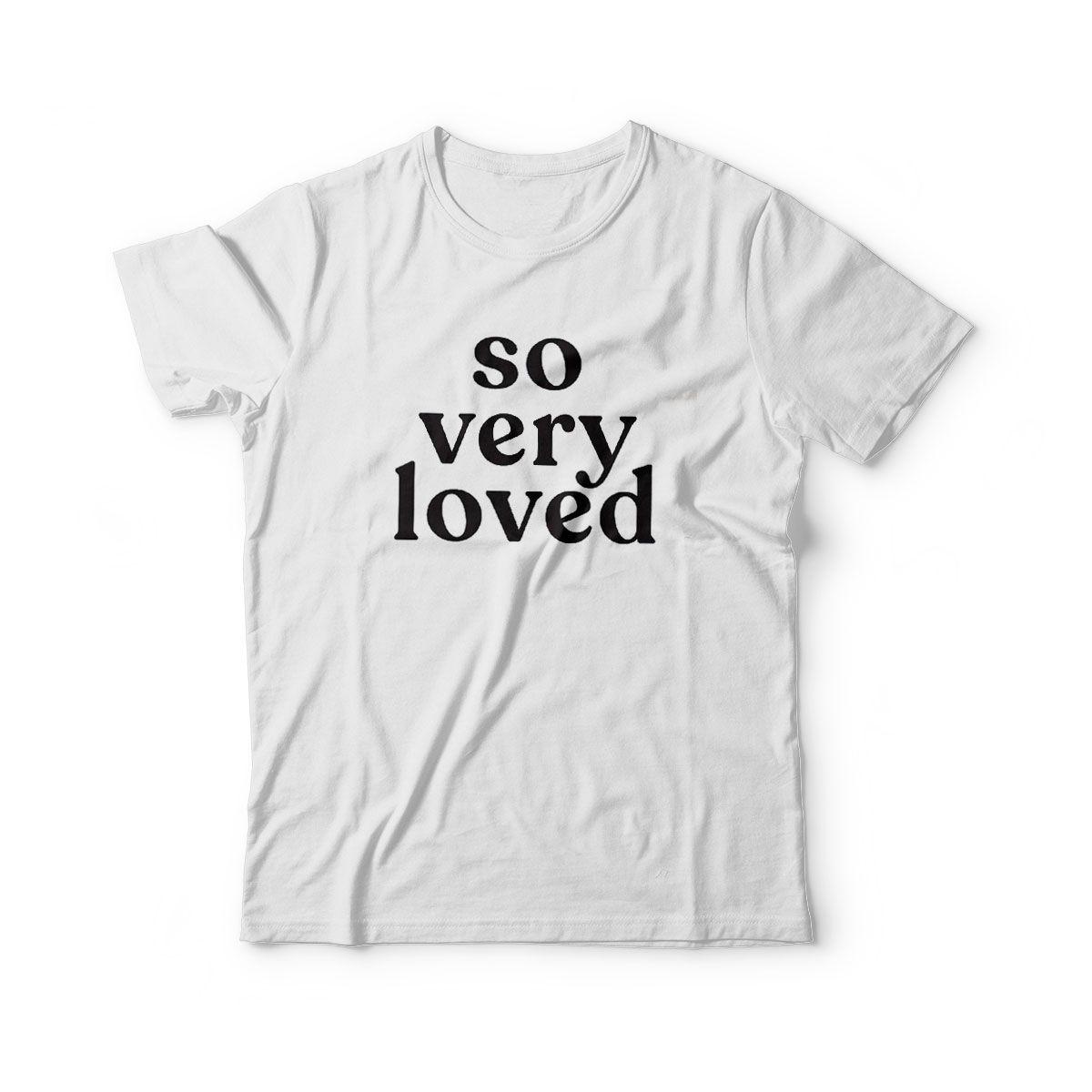 camiseta infantil amor so very loved
