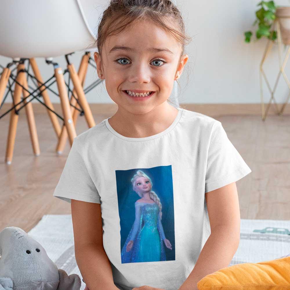 Camiseta Infantil Elza Frozen Personalizada Disney