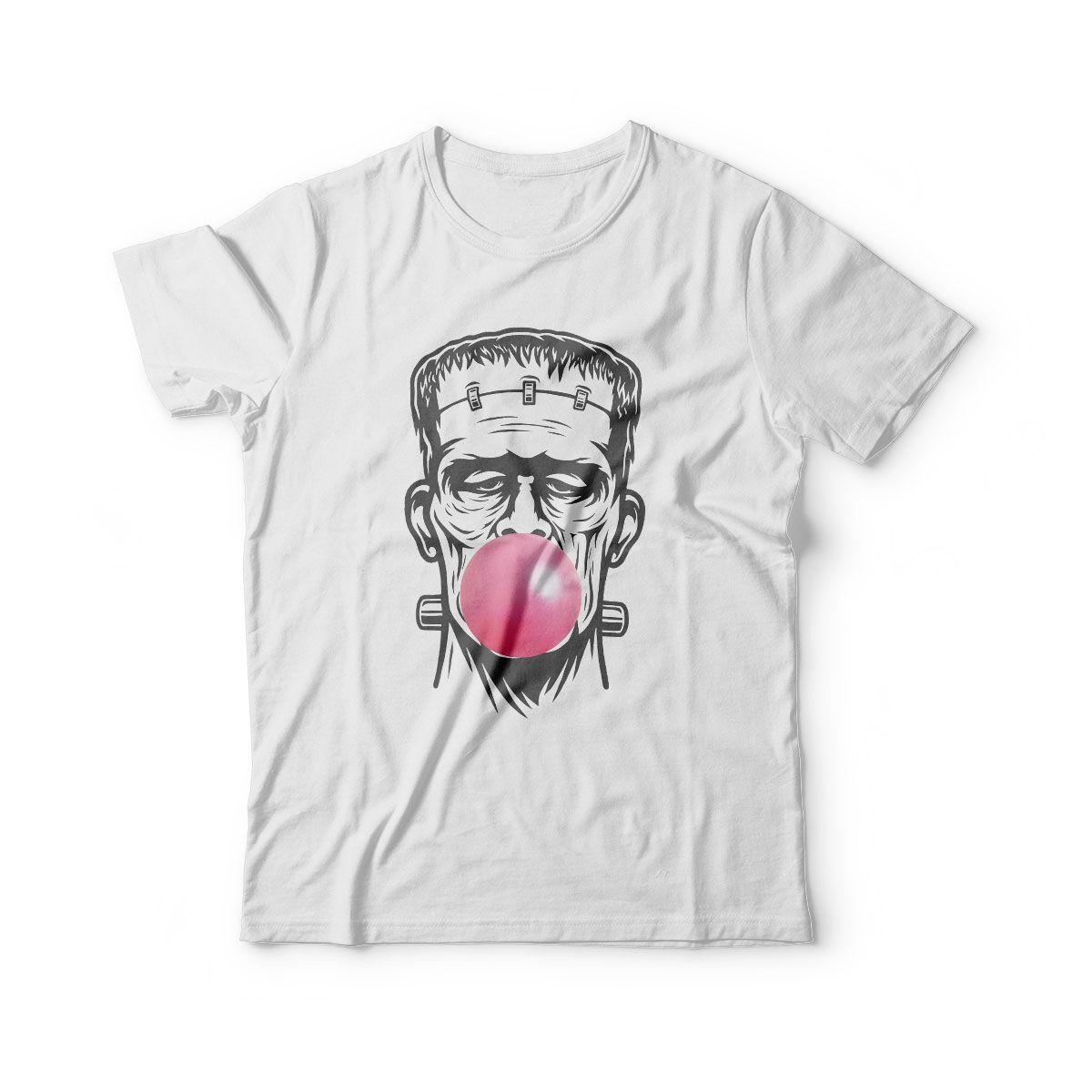 camiseta infantil estampada filmes frankstein