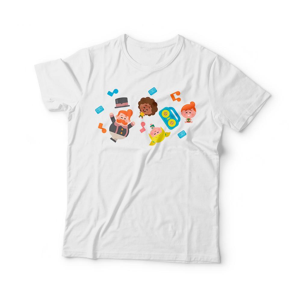 Camiseta infantil estampada Mundo Bita
