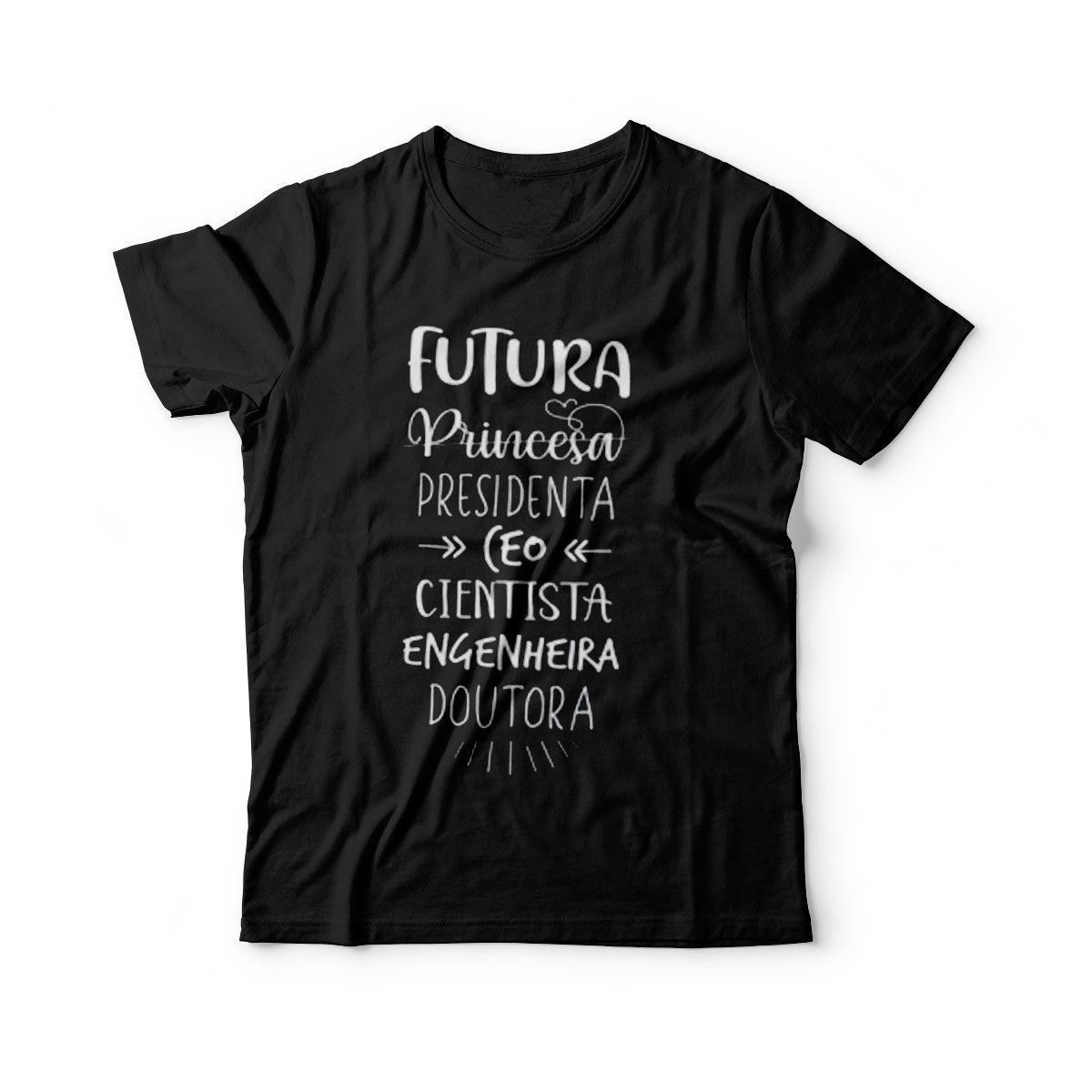 camiseta infantil frases engracadas princesa presidente