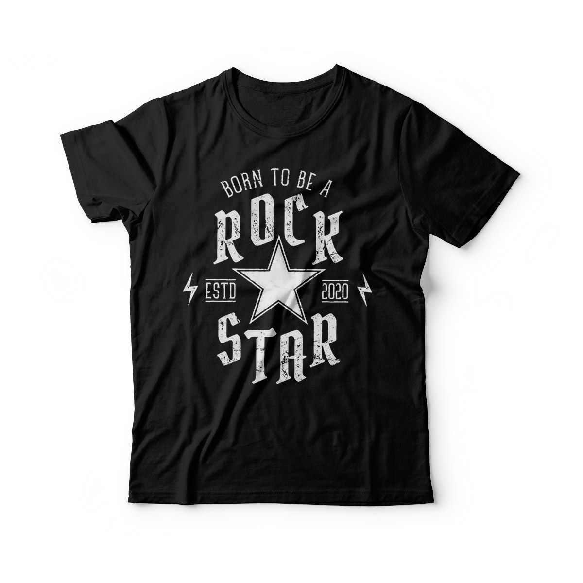 camiseta infantil rock star