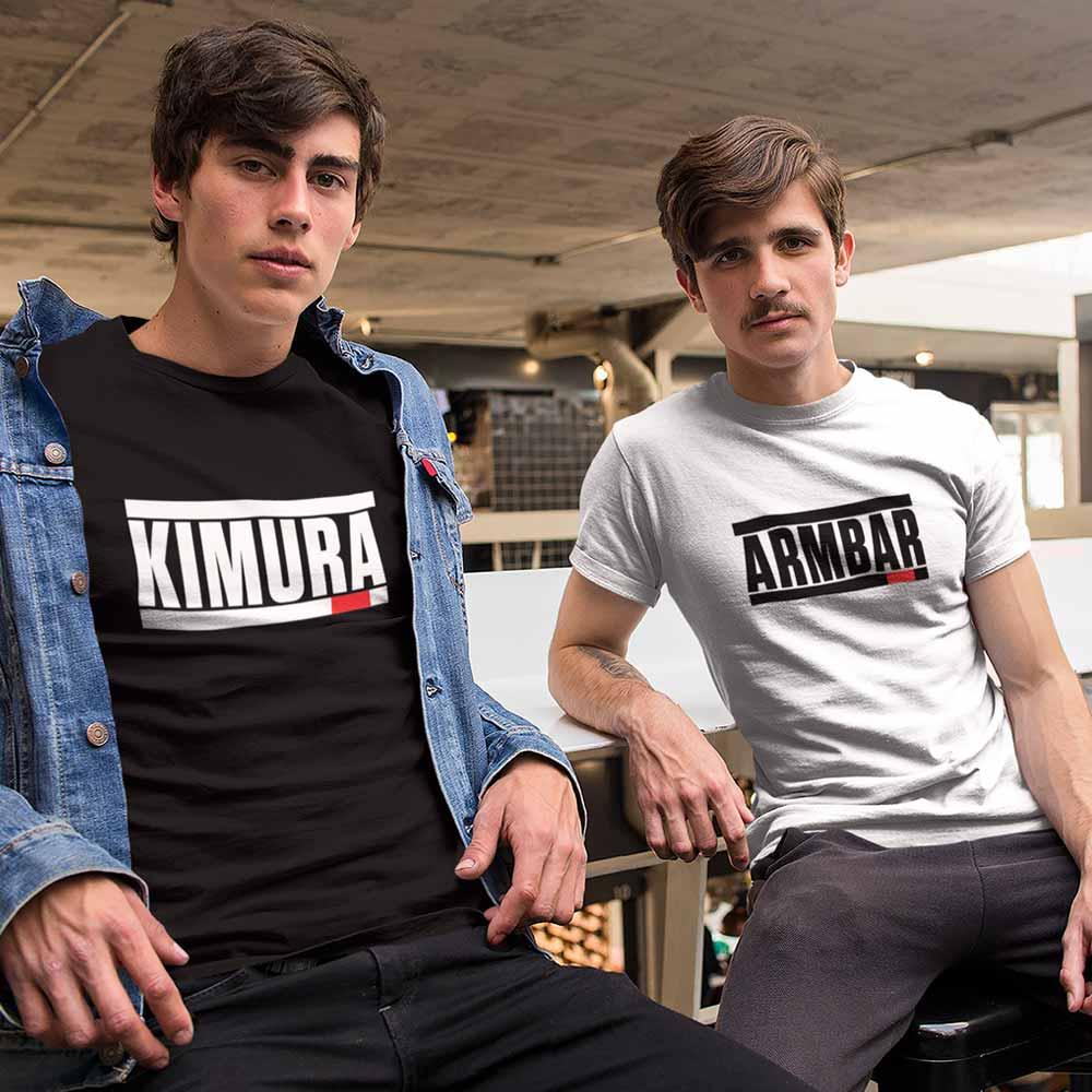 camiseta jiu jitsu arte suave armbar ou kimura
