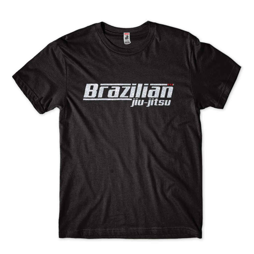 Camiseta Jiu Jitsu Competidor Masculina Estampa Mma Prateada