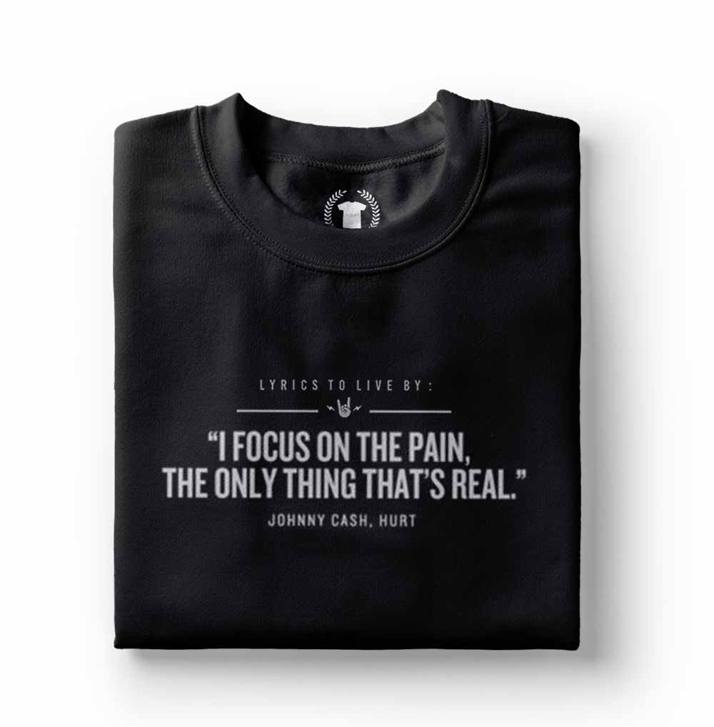 camiseta johnny cash preta frases de rock