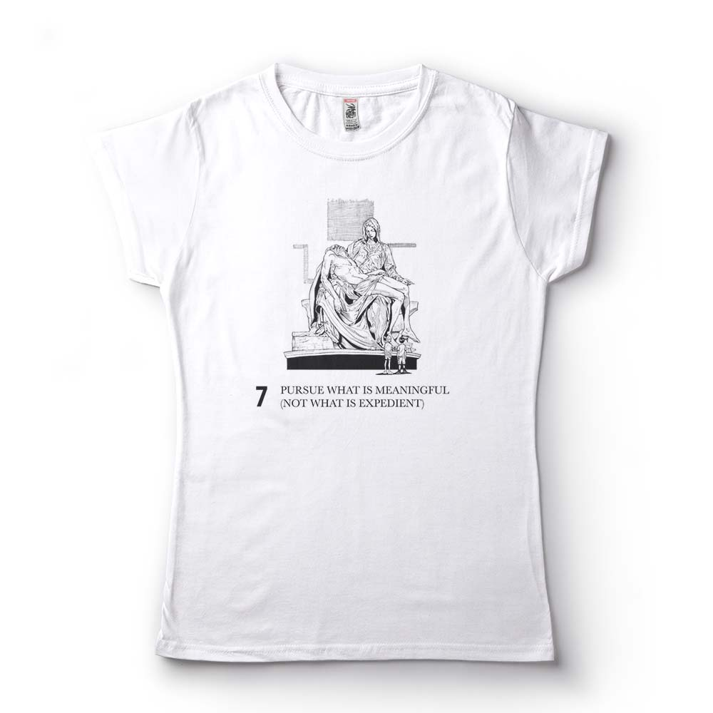camiseta  jordan peterson pursue what is meaningful