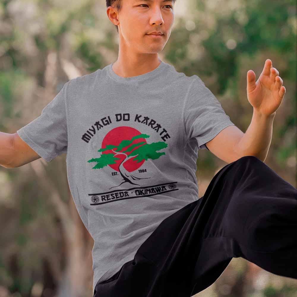 Camiseta Karate Kid Miagi Camisa Bonsai artes marciais