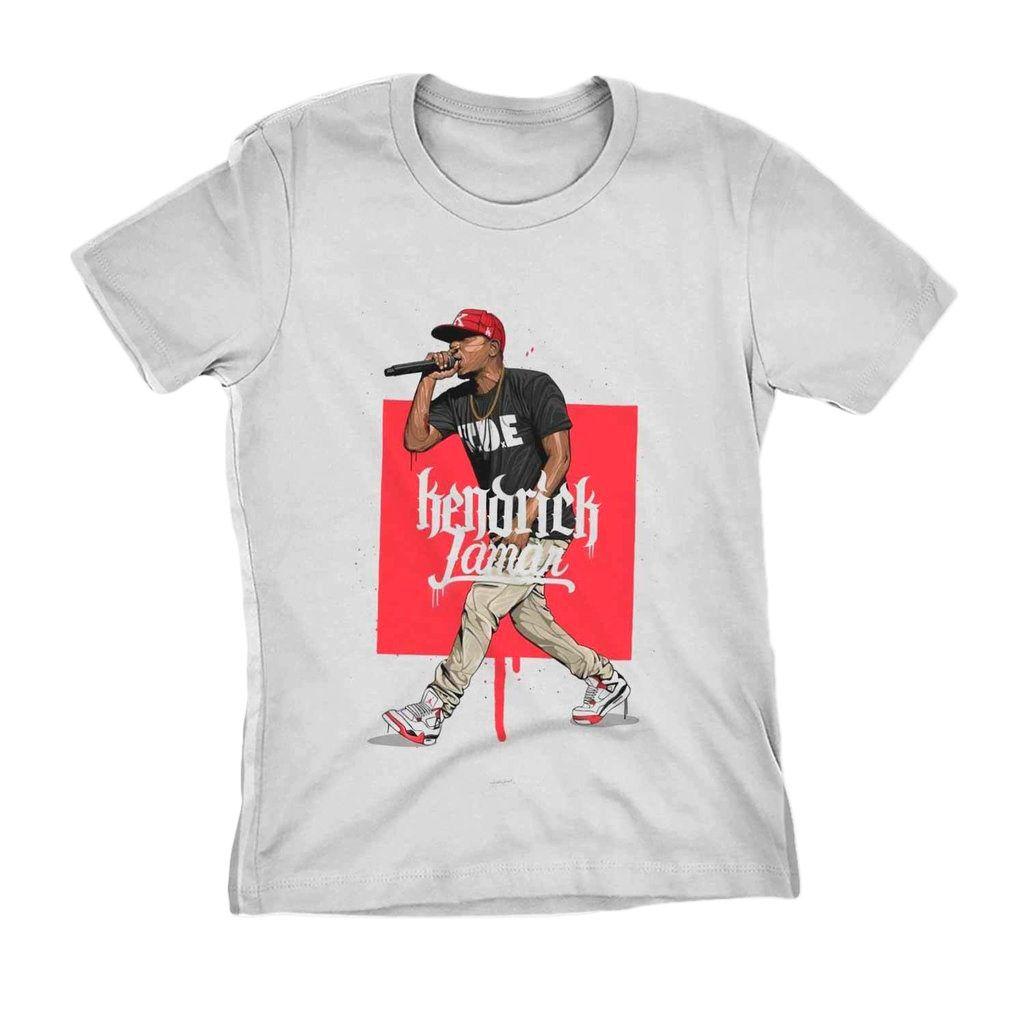 camiseta kendrick lamar feminina branca rapper Hippy