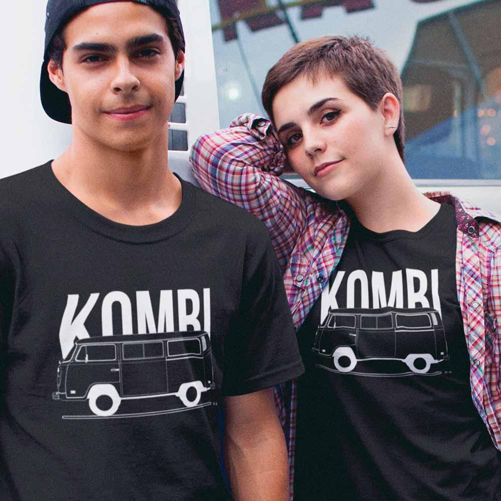 camiseta com estampa de kombi kombiseta preta