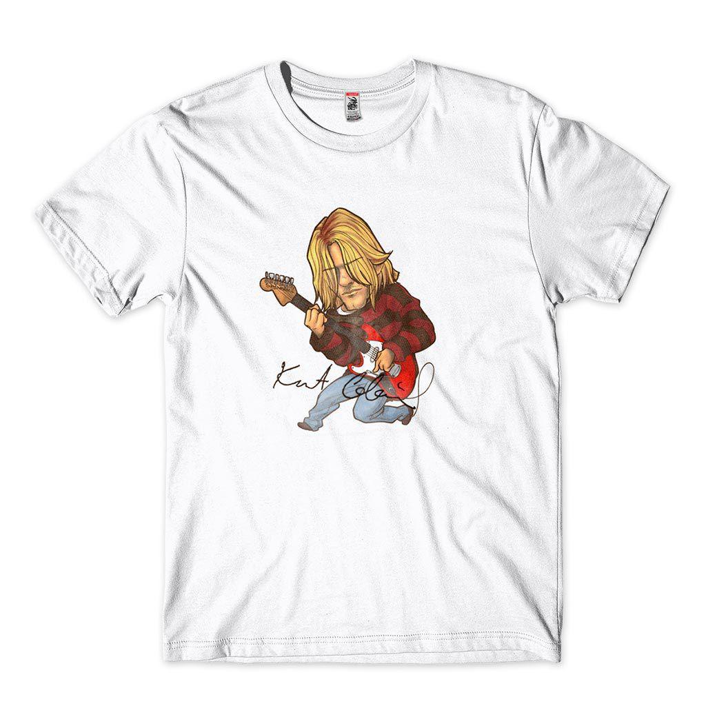 camiseta kurt kobain nirvana smells like teen spirit