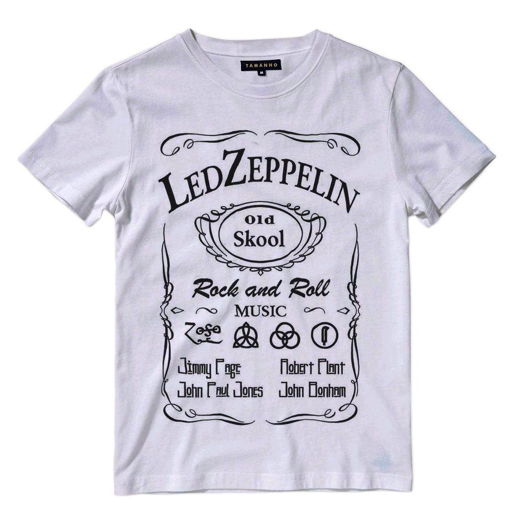 Camiseta Led Zeppelin Masculina Banda de Rock Classico