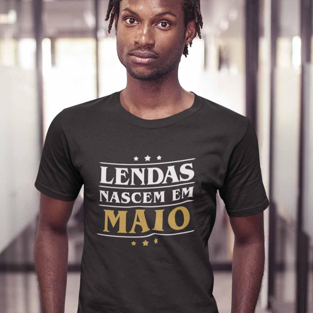 camiseta lendas nascem em maio para presente