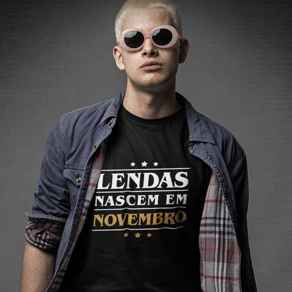 camiseta lendas nascem em novembro para presente