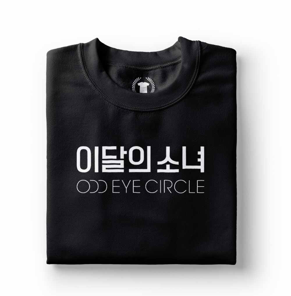Camiseta loona odd eye circle logo preta