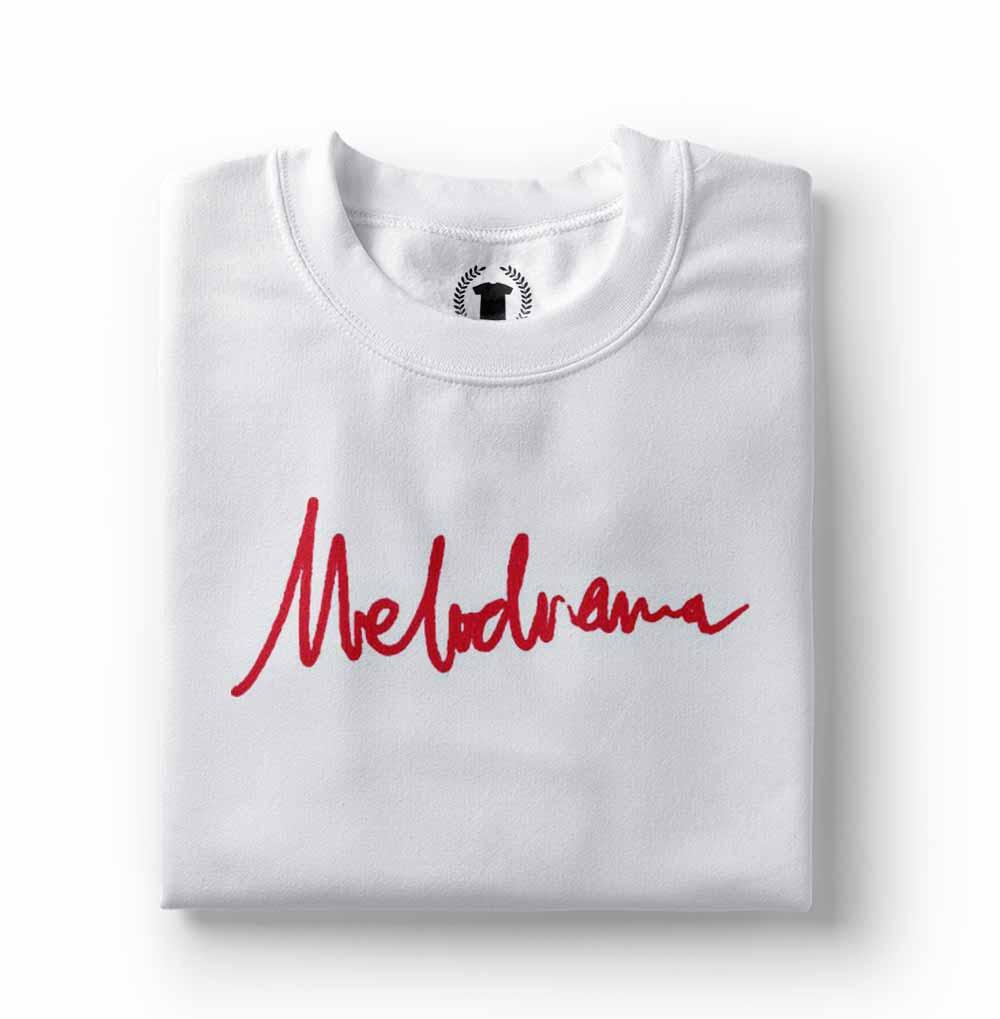 camiseta lorde melodrama branca