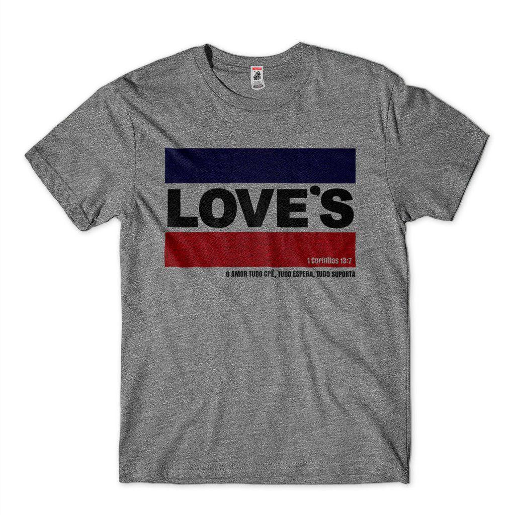 Camiseta Loves Religiosa Masculina Biblia Corintios