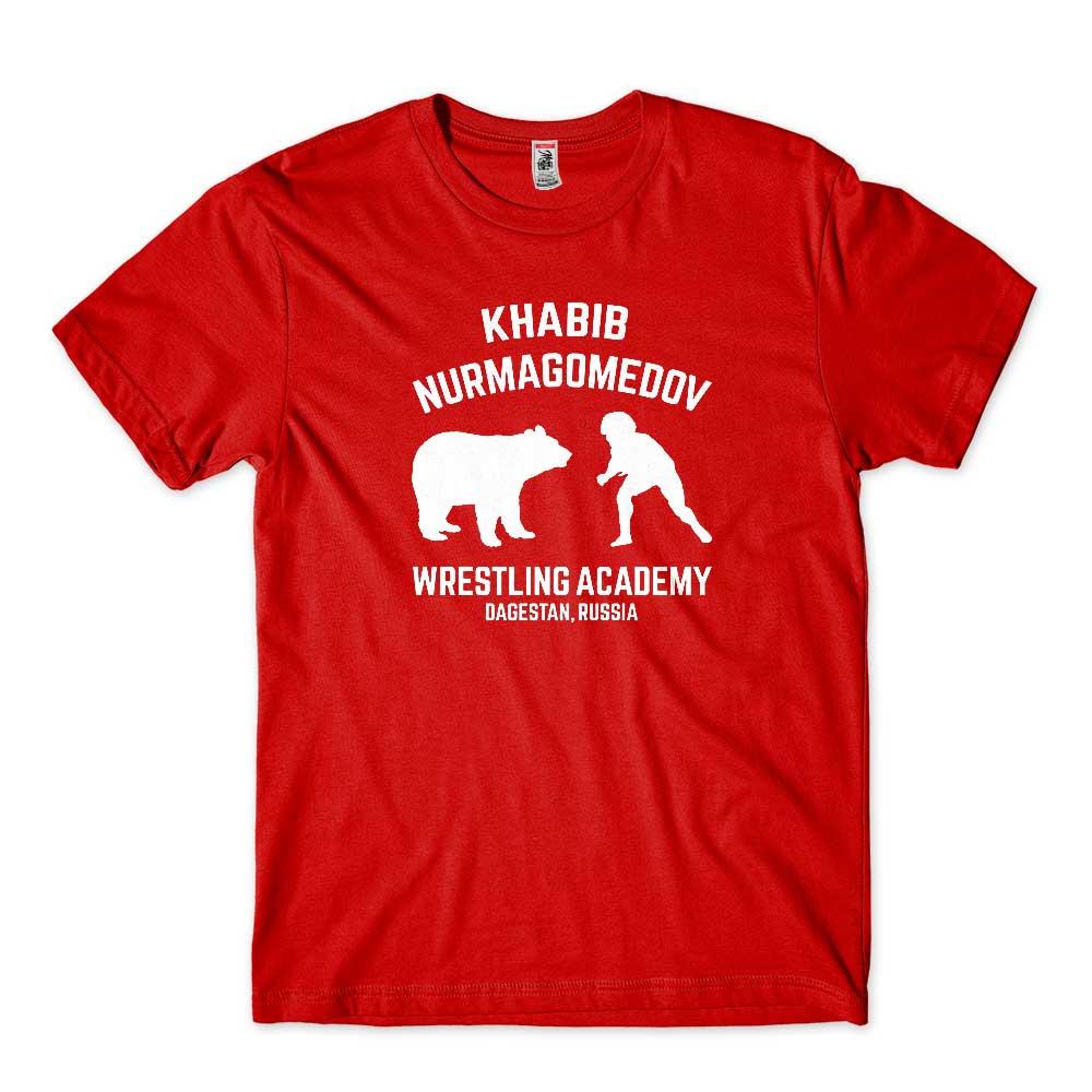 camiseta lutador do ufc vermelha khabib nurmagumedov