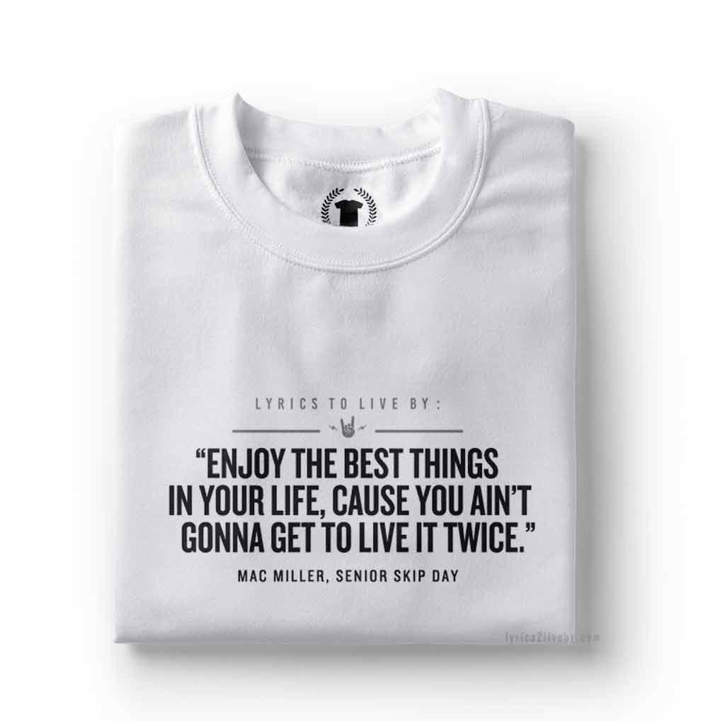 camiseta mac miller senior skip day