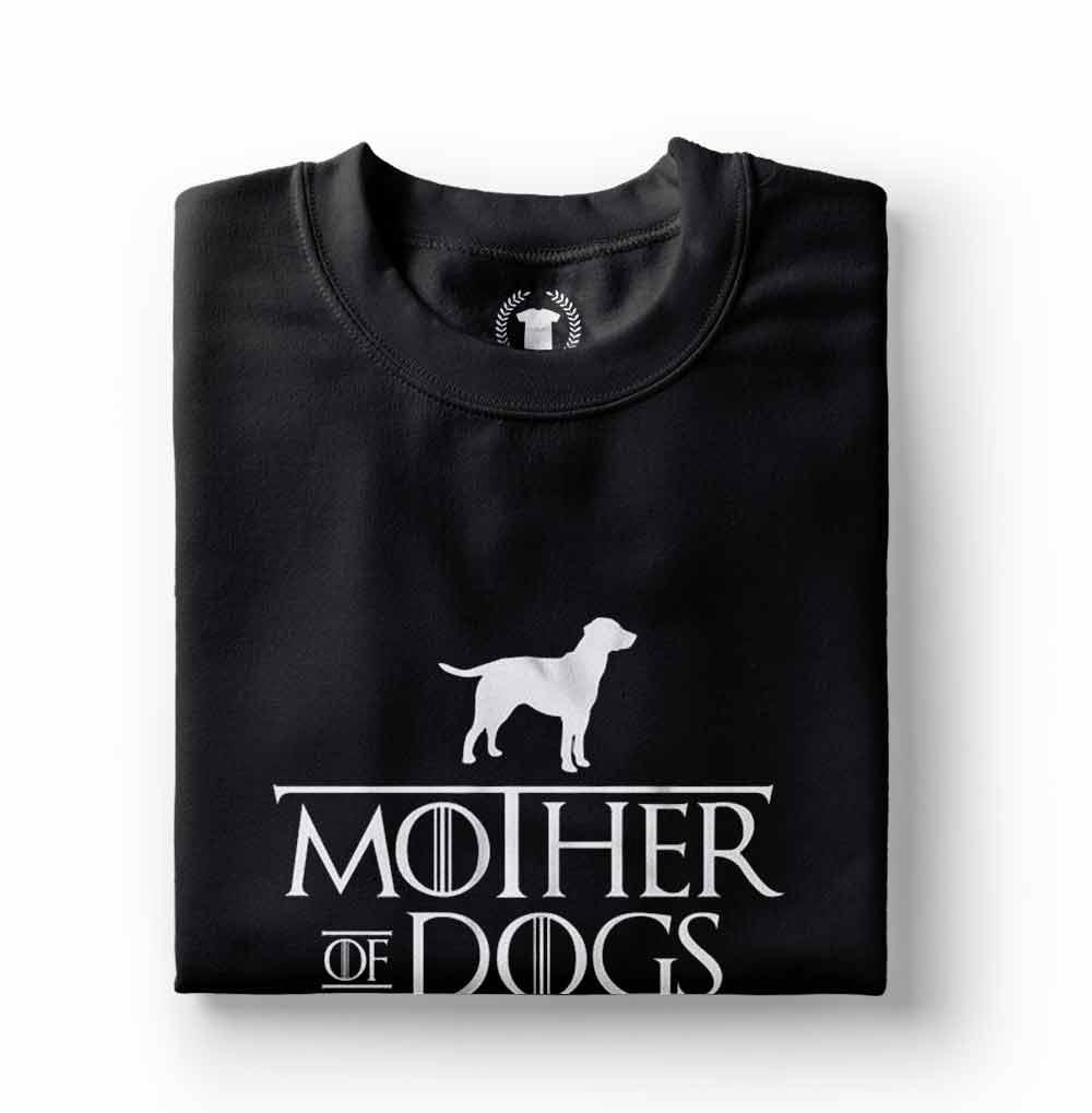 camiseta mae de cachorro preta