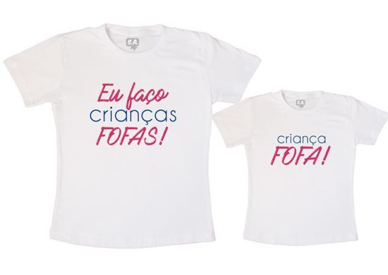camiseta mãe e filha iguais