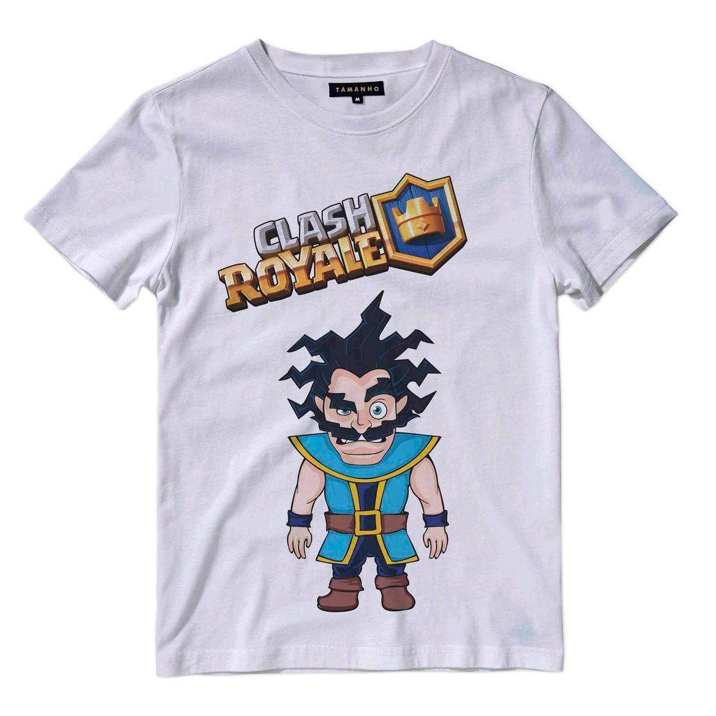 Camiseta Mago Eletrico Game Clash Royale Masculina Personagem