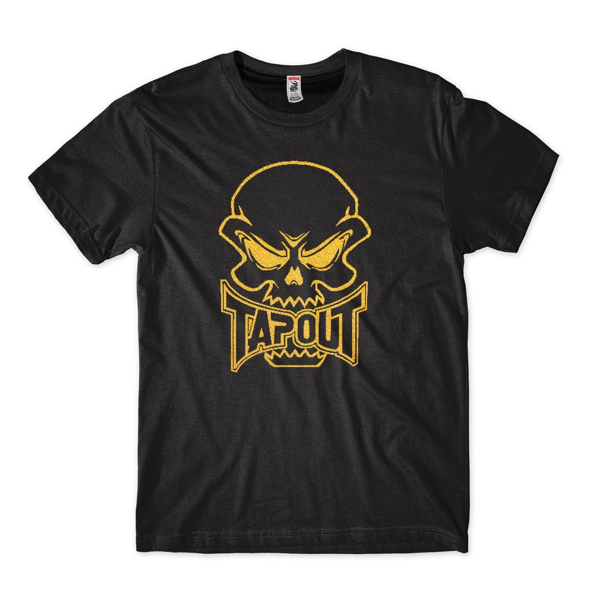 Camiseta Masculina para Academia Inspiracao TapOut Preta