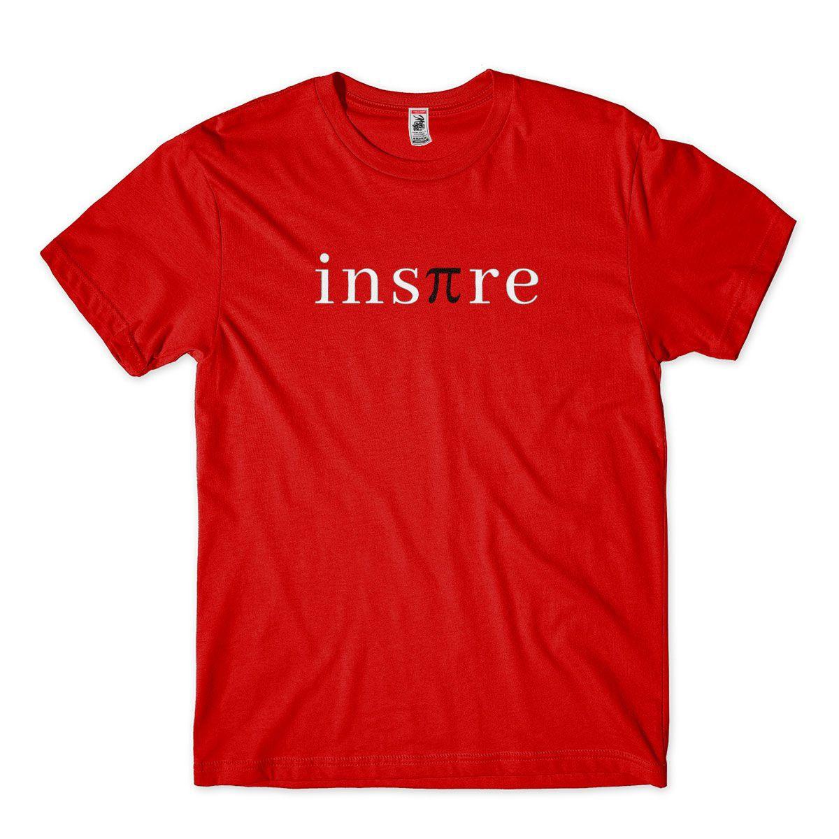 Camiseta Matematica inspire vermelha