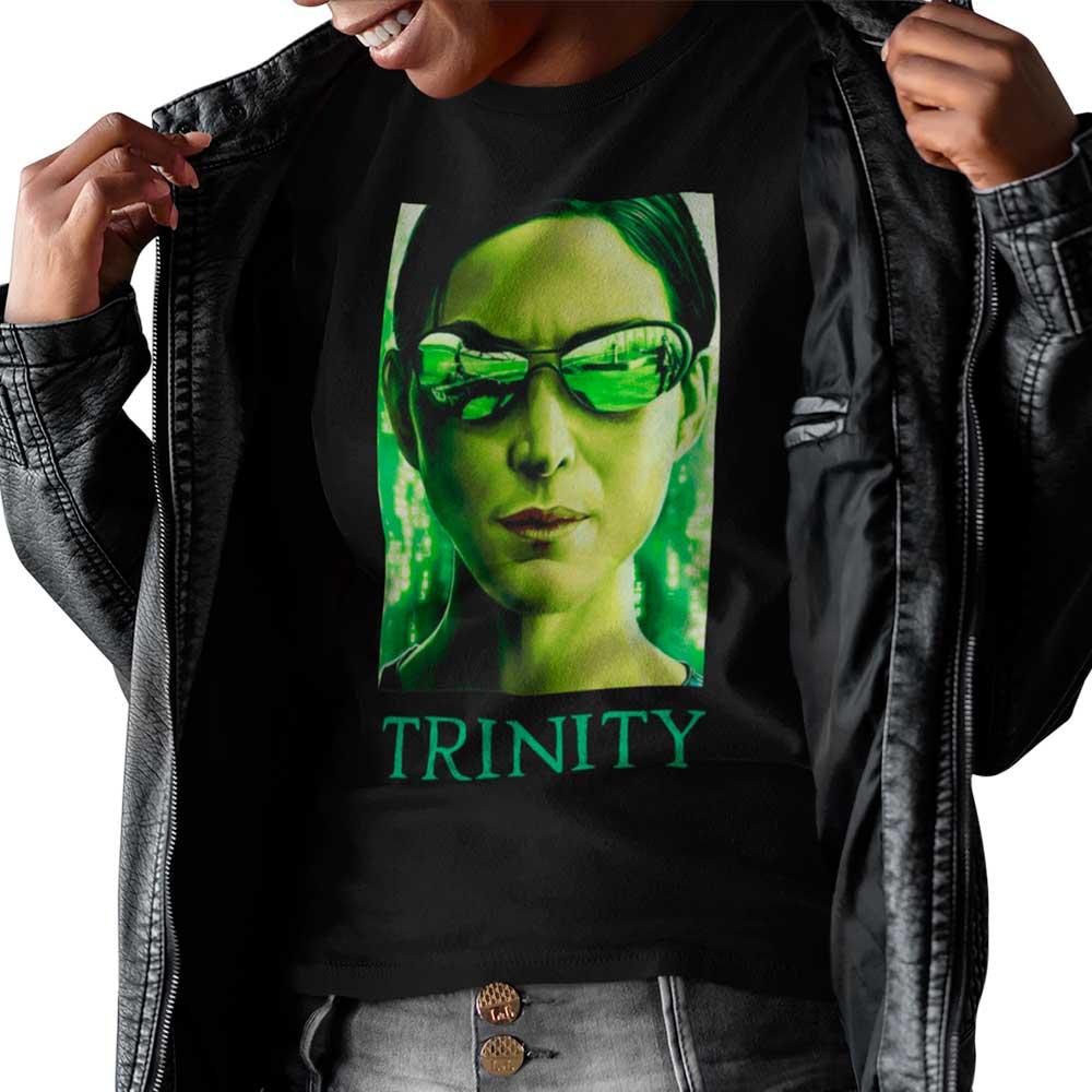 Camiseta Matrix Trinity Filme Anos 90