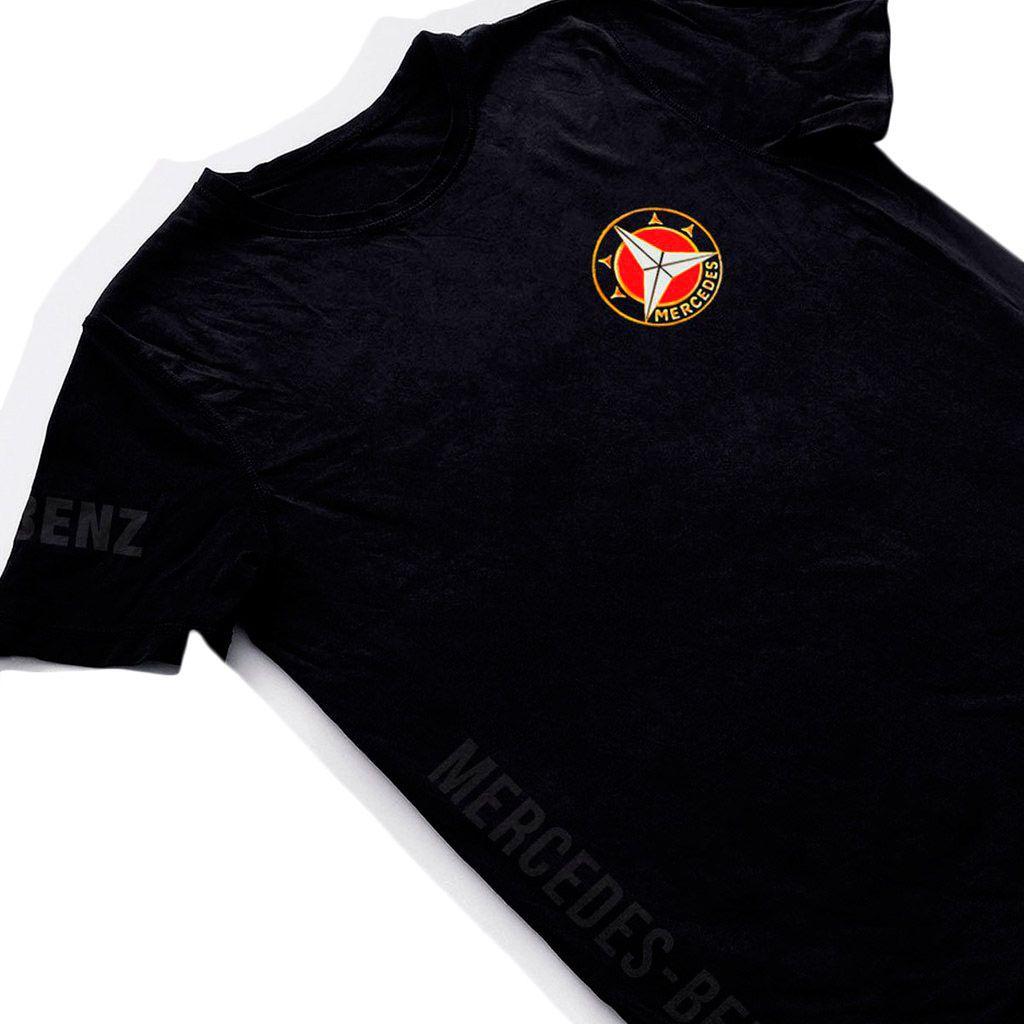 camiseta mercedez benz carros classicos camisa masculina preta