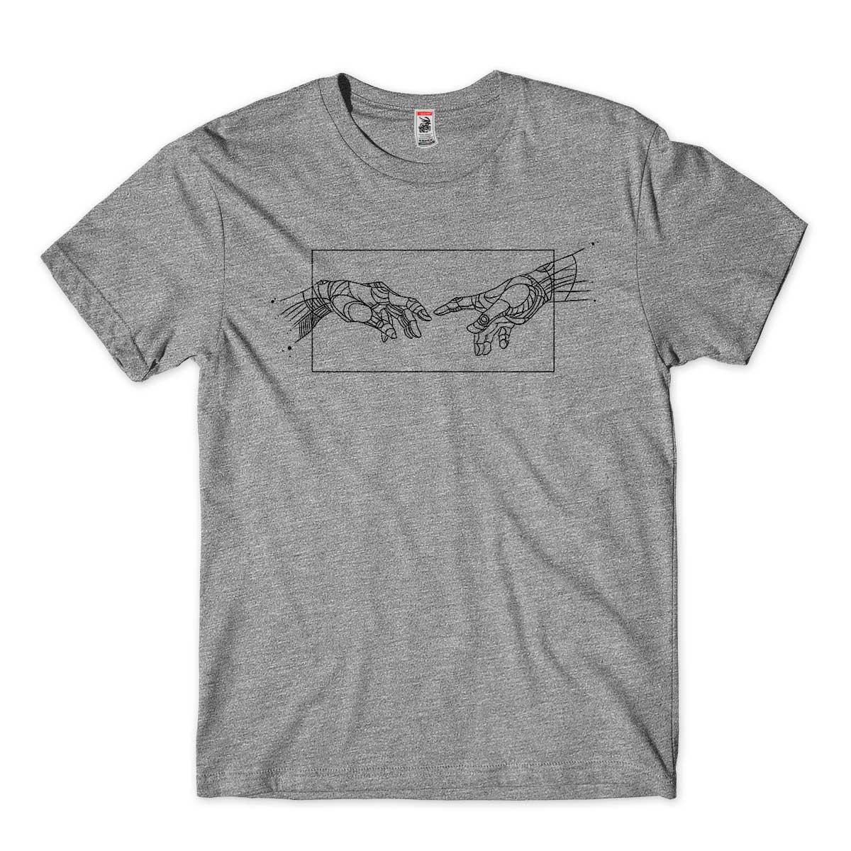 Camiseta Michelangelo Criacao de Adao Geometrico