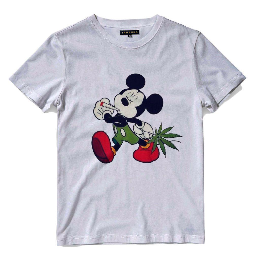 camiseta mickey mouse chapado Masculina tamanho G Branca