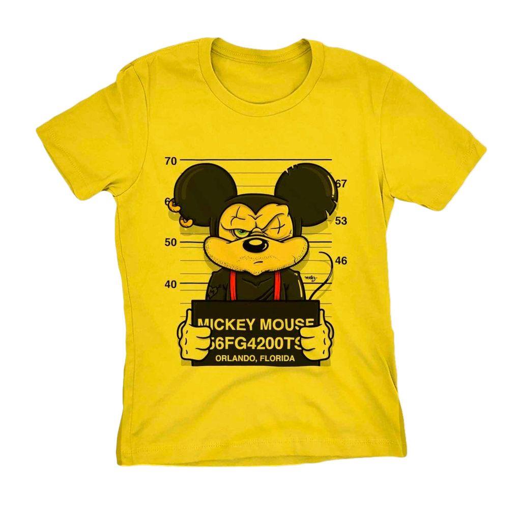 Camiseta Mickey Swag Preso Camisa Feminina Blusa Babylook