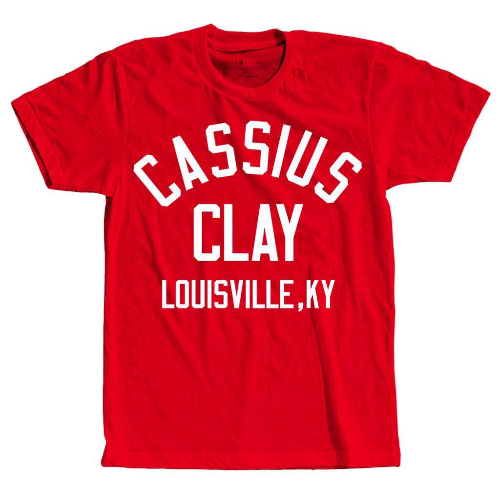 Camiseta muhammad ali Boxe lutador Cassius Clay Etiqueta Personalizada