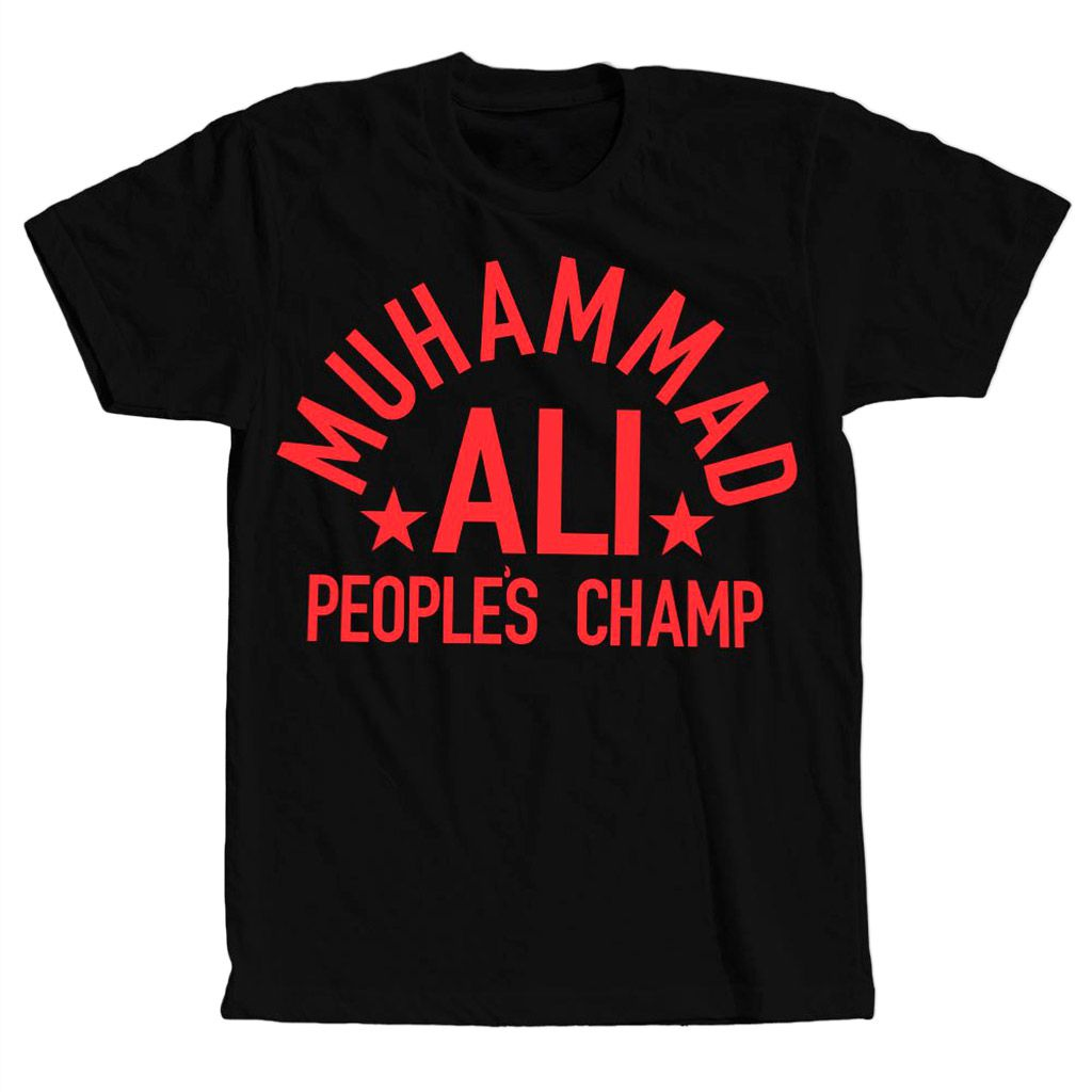 camiseta muhammad ali peoples champ masculina