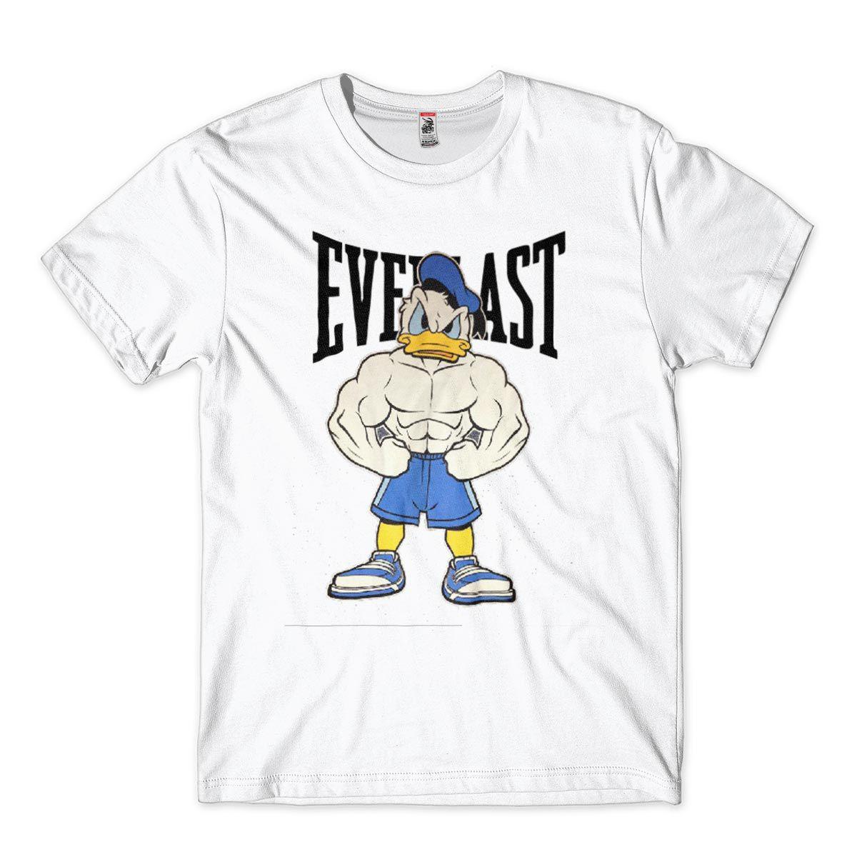camiseta musculacao bodybuilding engraçada Pato Donald  Sátira Everlast