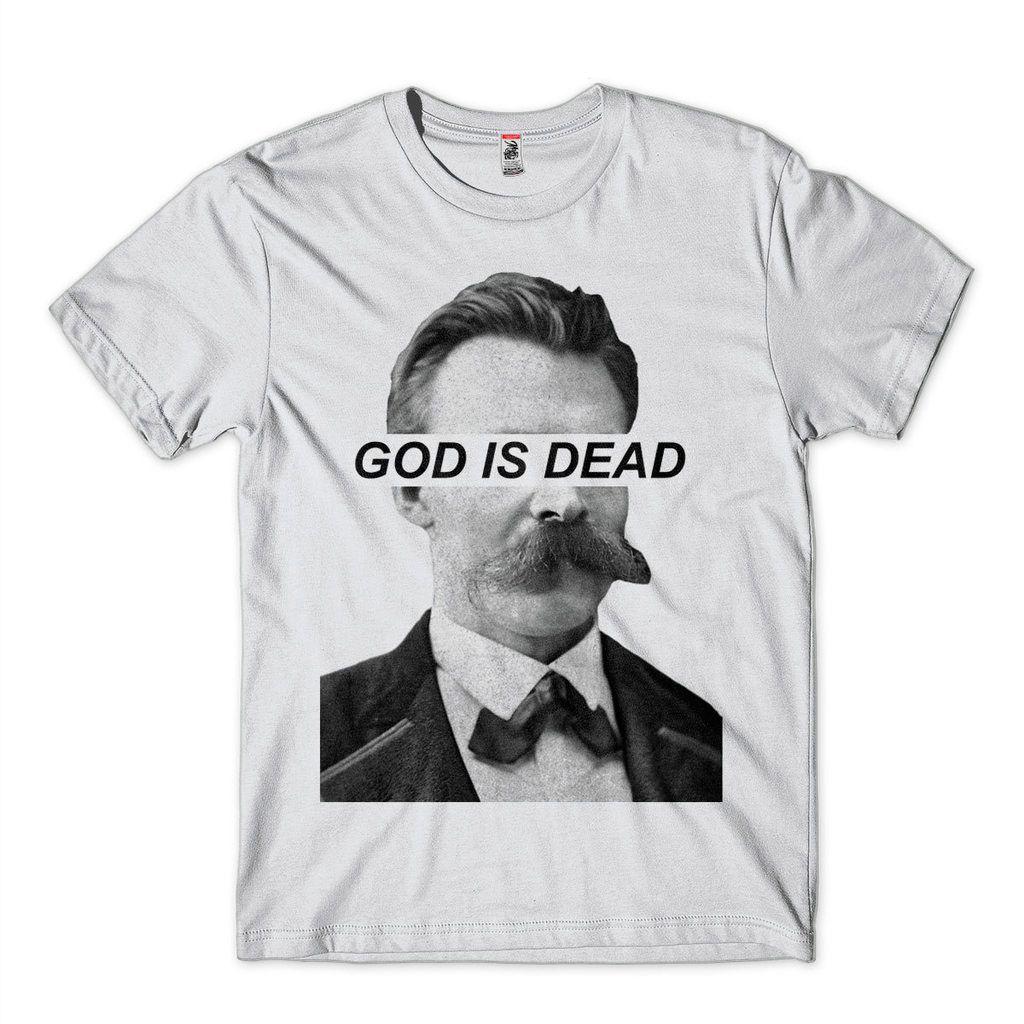 Camiseta Nietzsche Filosofia Niilismo God Is Dead Branca